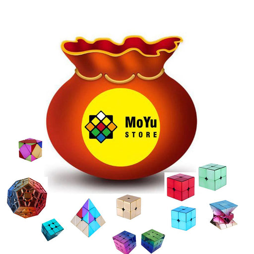 6PCS Radom Electroplated Moyu Cubes Blind Box Lucky Bags