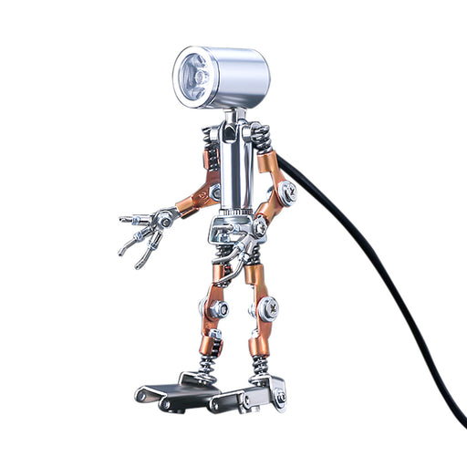 78Pcs  DIY Metal Little Night Light Lamp Man Figure Model Assembly Kit
