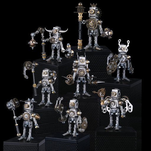 8pcs Set Blind Box 3D Assembly Puzzle Mechanical Saints Kit