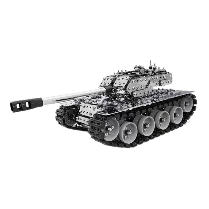 843Pcs 3D Scew Metal Mechanical Military Tank Model Kit Assembly Puzzle Toy