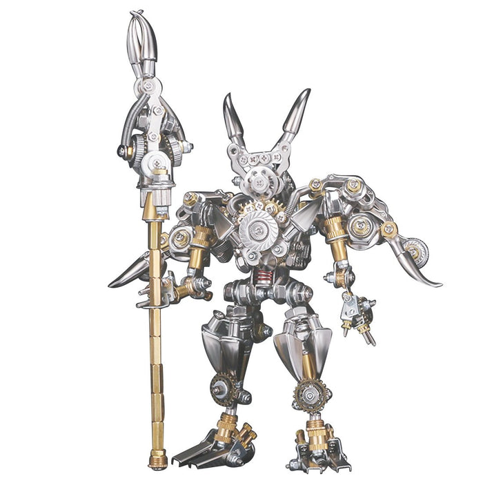 922Pcs DIY Mechanical 3D Fighting Solider Mecha with Stand Holder Assembly Kit