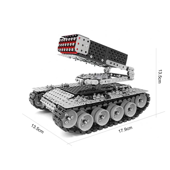 945Pcs 3D Metal Puzzle Assembly Rocket and Tank Military Model Kit