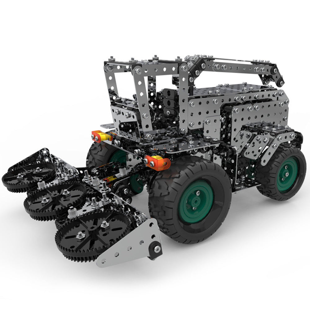 946Pcs 3D Metal Gear Drive Big Farm Combine Wheat Harvester Assembly Toy