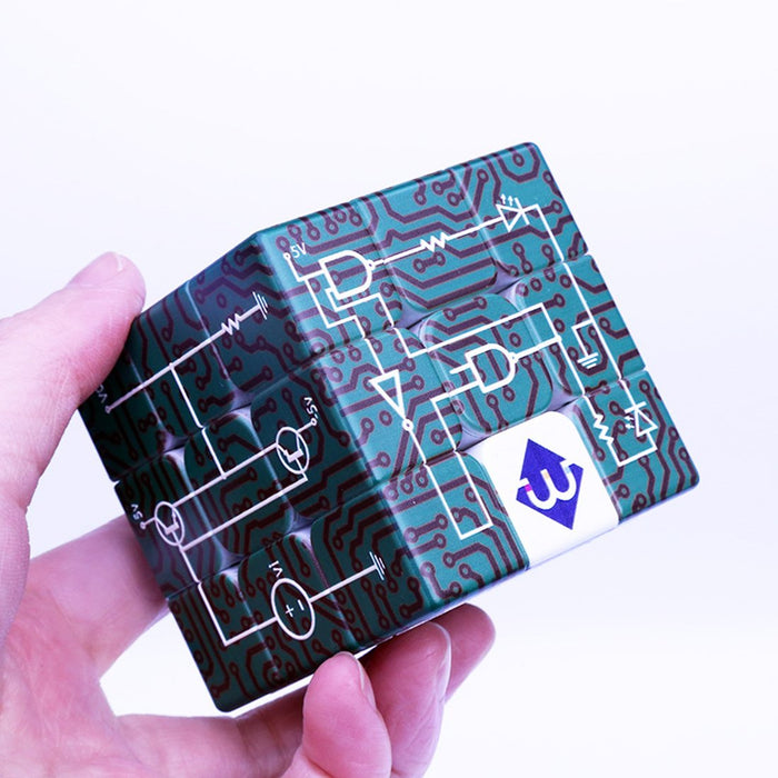 Electric Circuits Relief Effect 3x3x3 Cube for the Blind