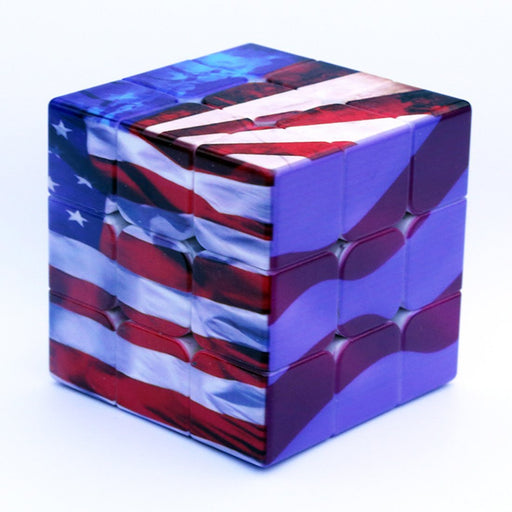American National Flag Eagle Pattern 3x3 Speed Cube