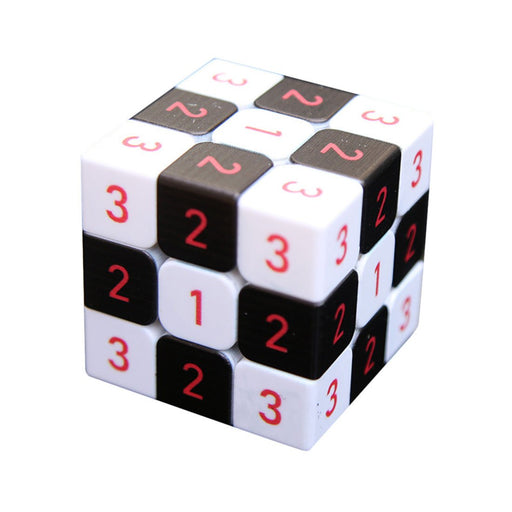 Black and White Chessboard Numbers 3x3 Cube