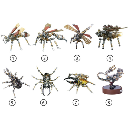 Blind Box 3pcs/set DIY Mechanical Assembly Metal Steampunk Insect Puzzle Model Kit