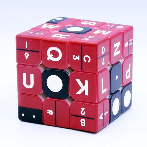 Braille Number Relief Effect 3x3 Cube