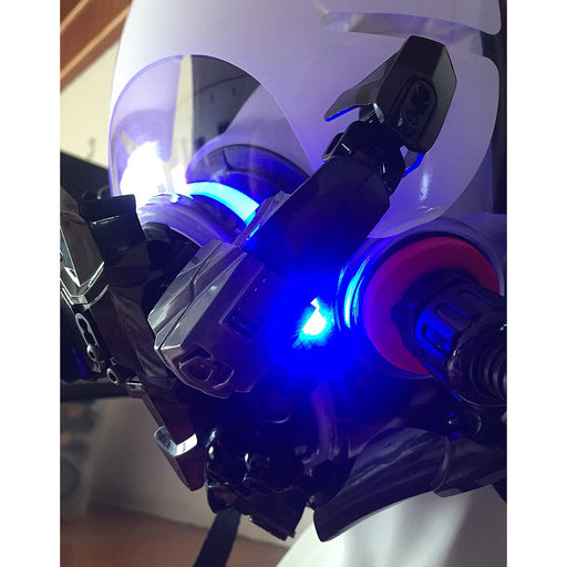 Creative Full Face Helmet Dress Up Cosplay Mask with Light - Blue Light