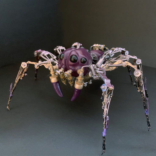 Creative Metal Purple Tarantula Spider Insect Bug Steampunk Model Assembled Crafts
