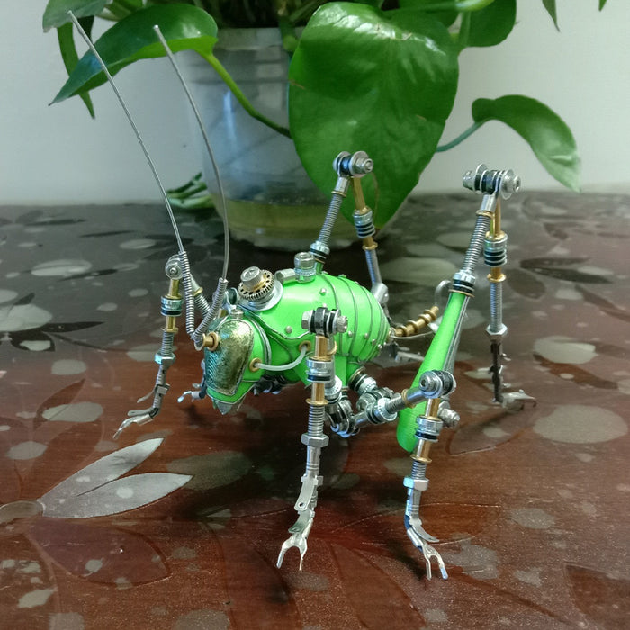 Creative Steampunk 3D Green Cricket Insect Sculpture  Assembly Model Kits