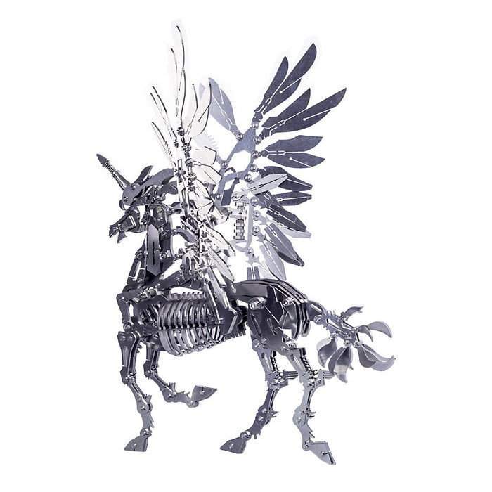 DIY 3D Assembly Metal Large Unicorn with Wing Puzzle Model