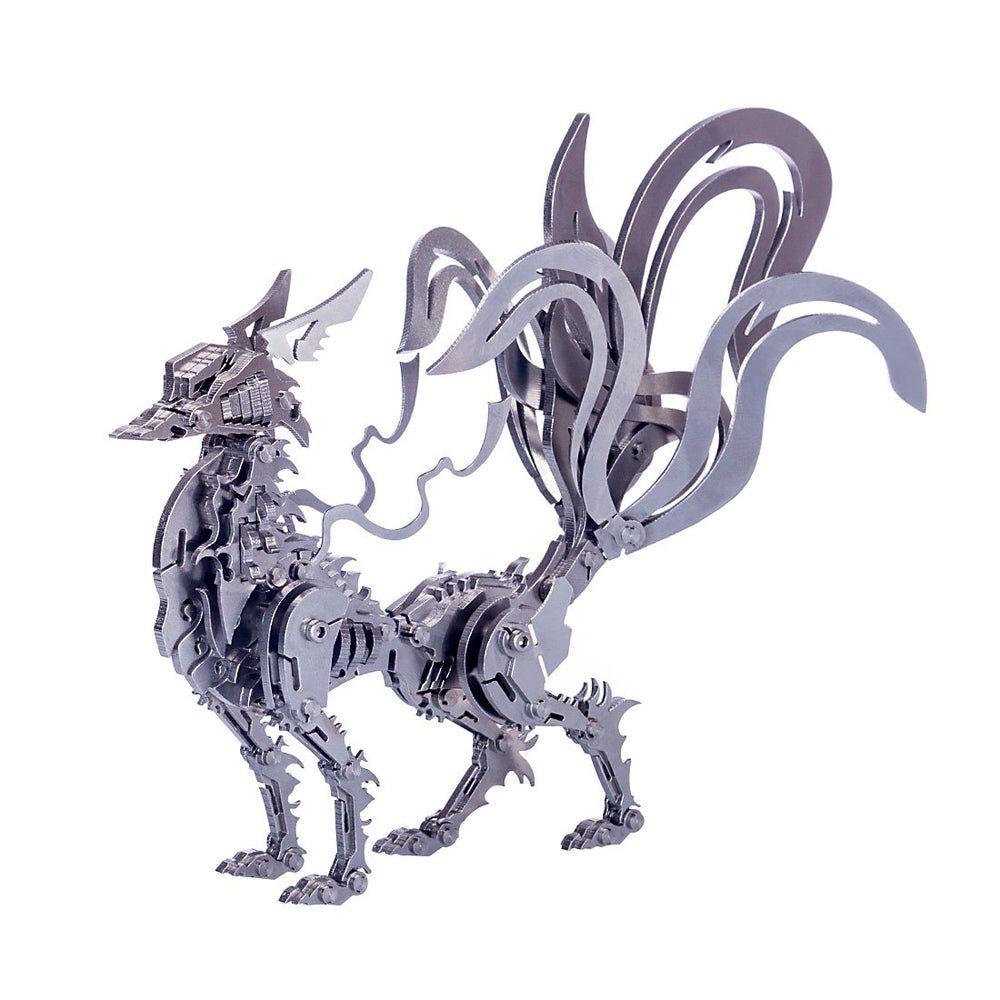 DIY 3D Metal Large Nine-tailed Fox Puzzle Model Assembly