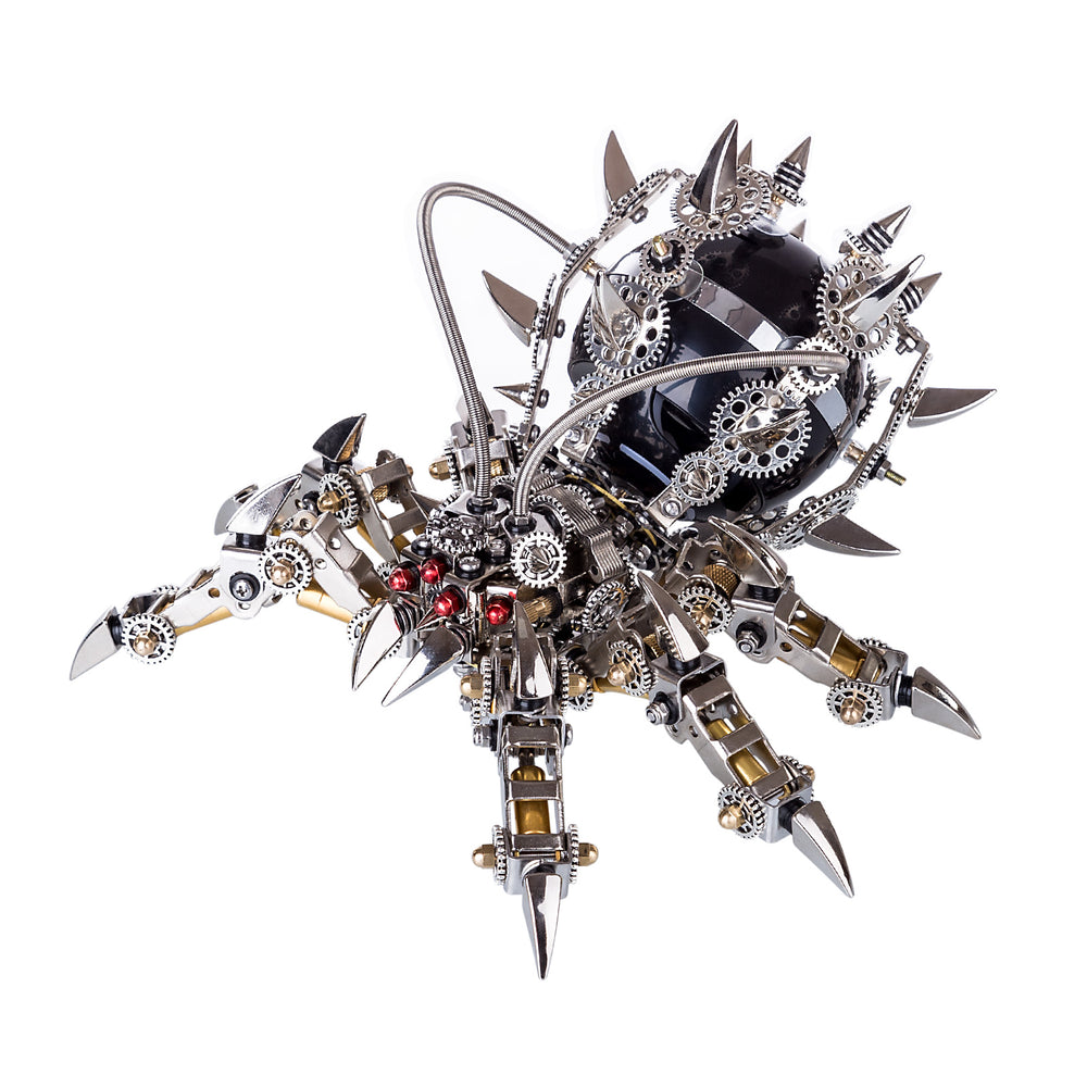 800pcs+ DIY 3D Metal Spider King Model Kit Bluetooth Speaker Assembly Difficult Puzzle