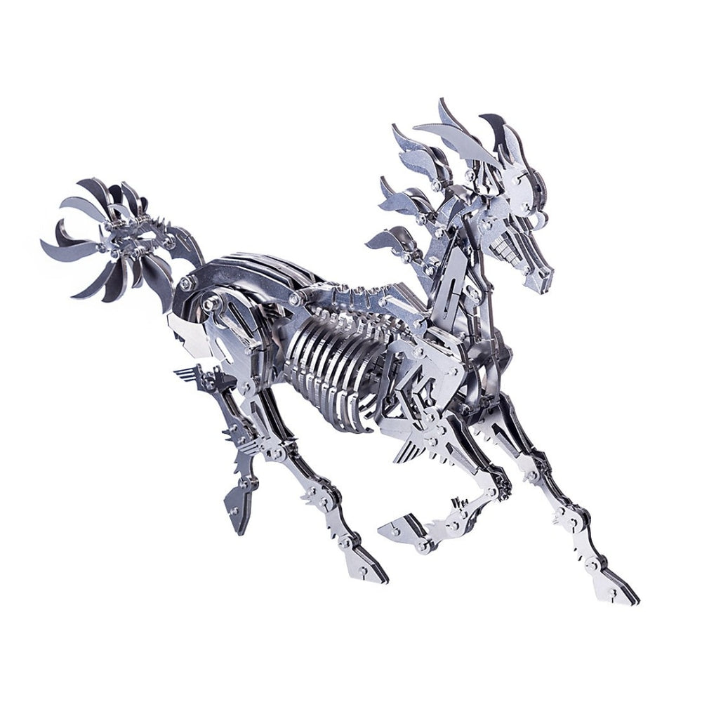 DIY 3D Stainless Steel Assembly Big Horse Model