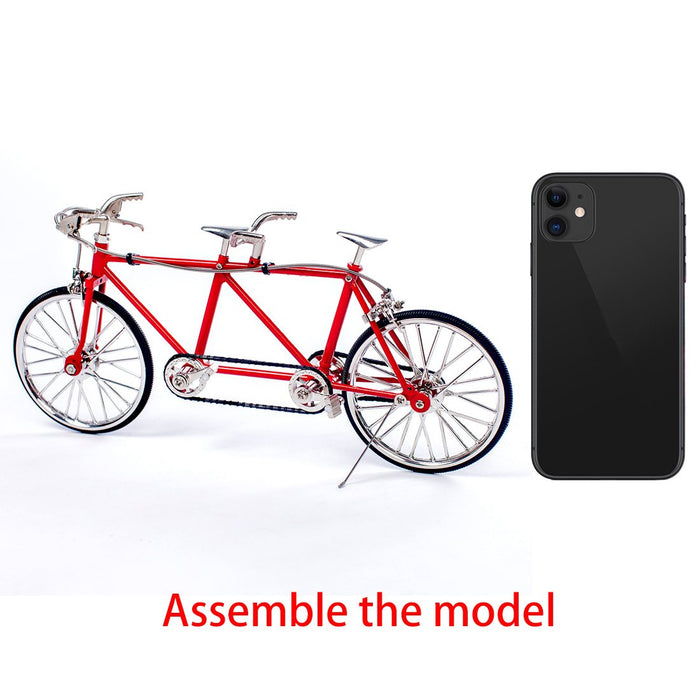 DIY Assembly Tandem Bicycle Metal Model Puzzle Kit Toy