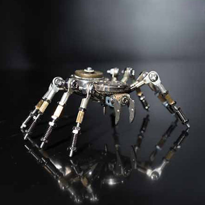 DIY Assemby Metal 3D Spider Model Kit Home Office Decor Gift