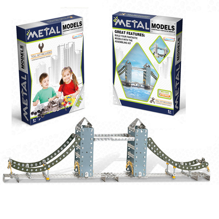 DIY Metal 3D Tower of London Bridge Model Kit Assembly