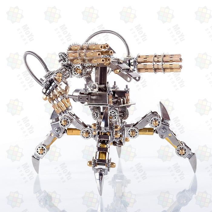 DIY Stainless Steel 3D Puzzle Magnetic Chaser Mecha Model without Speaker