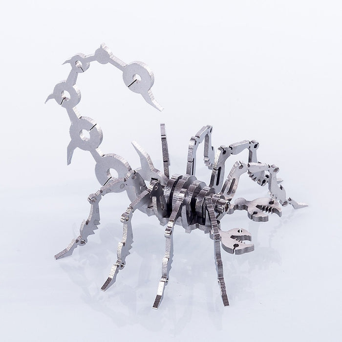 DIY Stainless Steel Metal Little Scorpion Puzzle Assembly Model