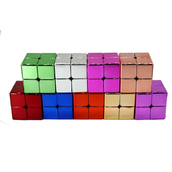 Electroplated Meilong 2x2 Pocket Cube