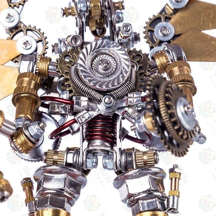 Golden Mechanical Angel DIY Metal 3D Assembly Puzzle Toys