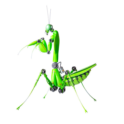 Green Mantis Steampunk Bug  Assembled Model Kits Metal 3D  Sculpture Crafts
