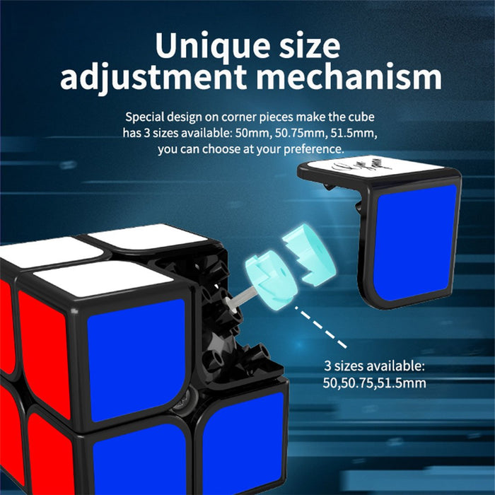 GuoGuan XingHen TSM 2X2 Speed Cube with 3 Sizes Adjustment GG7008