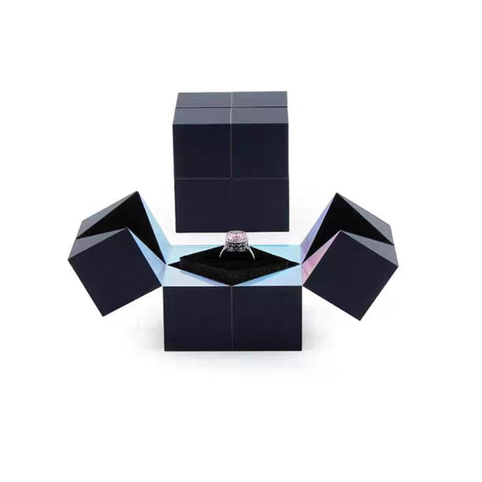 Marry Me Cube Wedding Ring Gift Box