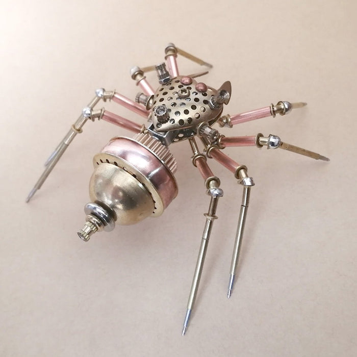 Mechanical Auspicious Spider 3D Metal Insects Model Crafts