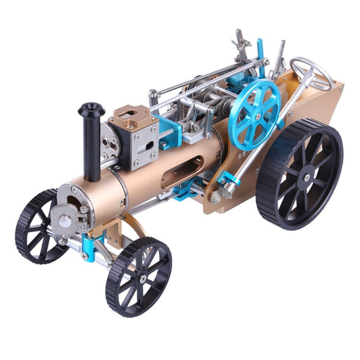 Metal Assembly One Cylinder Electric Steam Car Model Toy for Adult