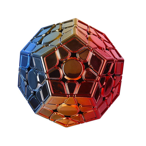 Electroplated MFJS Cubing Classroom Megaminx Red Golden Blue Gradient