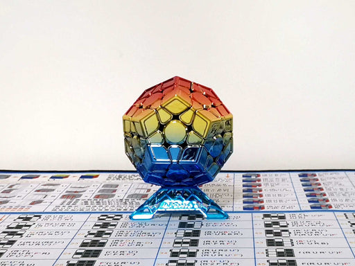 Moyu Electroplated Megaminx Red Golden Blue Gradient