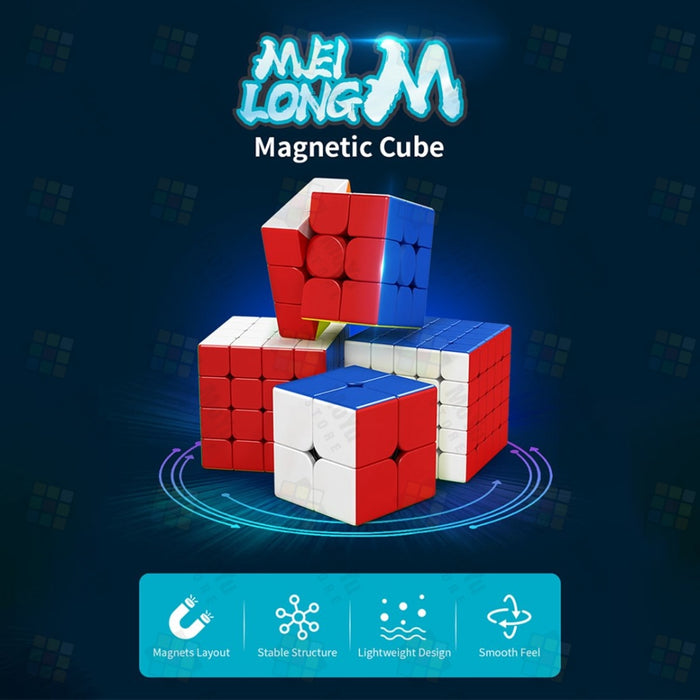 MFJS RS3M 2020 + Meilong M Series 4pcs Speed Cube Set-Stickerless