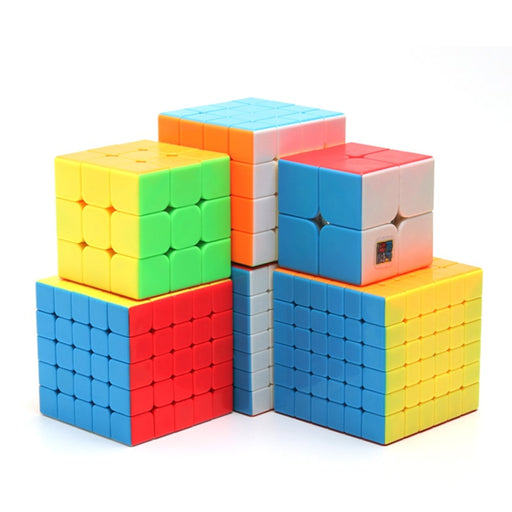 MOYU Meilong 6pcs kit 2x2 3x3 4x4 5x5 6x6 7x7 Cube Puzzle for Beginner-Stickerless