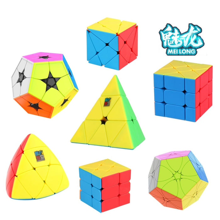 MoYu Meilong 7pcs kit Megaminxcube Pyramid Fisher Axis Windmill Cube Mastermorphix Puzzle
