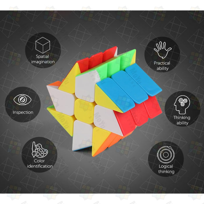 Moyu MFJS 4pcs  X Cube +Windmill Cube +Axis Cube +Fisher  Cube Puzzle Set - Stickerless