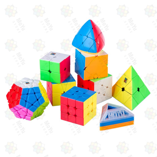 MoYu MFJS MeiLong 8 in 1 Gift Cubes Windwill Megaminx Pyraminx Set