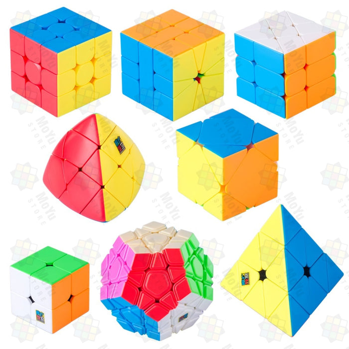 MoYu MFJS MeiLong 8 in 1 Gift Cubes Windwill Megaminx Pyraminx Gift Box Set