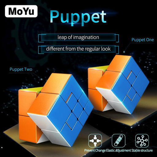 Moyu Puppet One Puppet Two 2x2 Cube 56mm MF8822 Stickerless