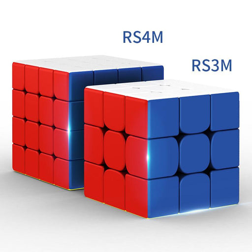 2pcs kit Moyu RS3M RS4M 2020 Magnetic Speed Cube 3X3 4X4