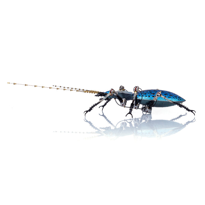 Purple Blue Metal Ground Beetle Steampunk Assembly Model Kits 3D Sculpture