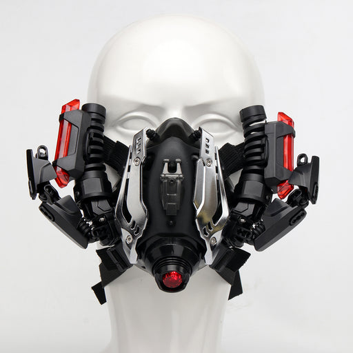 Science Fiction Film Mask Outdoors Dust Mask with Lights