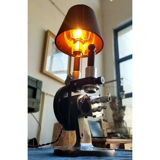 Steampunk Industrial Style Metal Microscope Desk Lamp