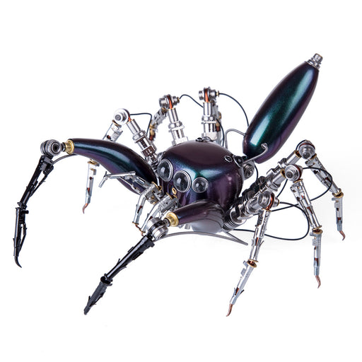 Steampunk Mechanical Metal Purple Spider 3D Sculpture  Assembled Model Kits