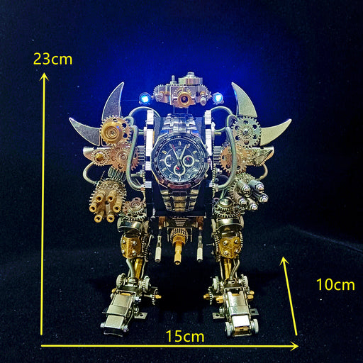 Taurus Robot Watch Stand Holder 3D Assembly Metal Fighting Mecha Action Figure for Clock Collector Preorder