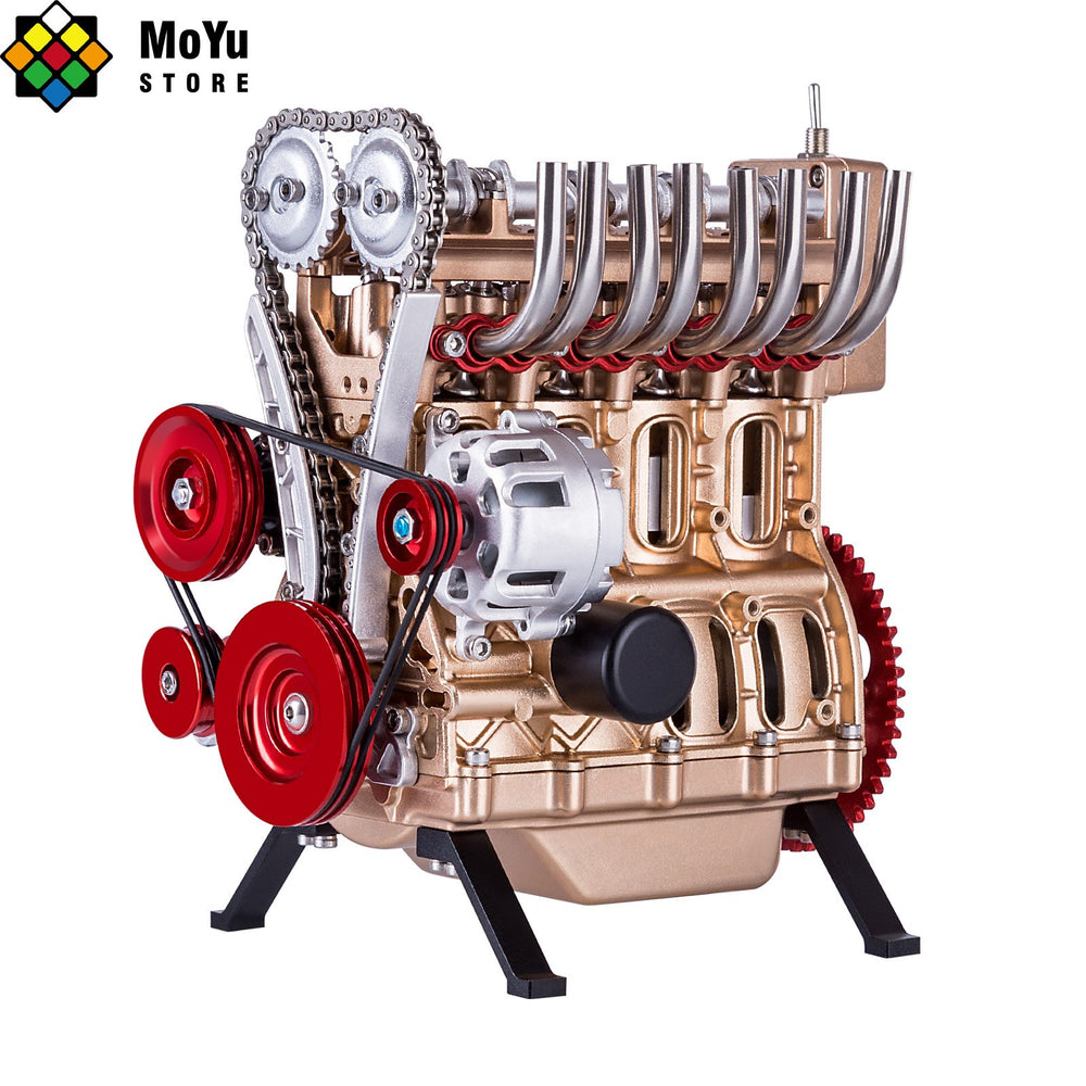 Teching 3D Assembly Adult 300+pcs Car Engine Model Toys Mini Inline 4 cylinders Engine Education