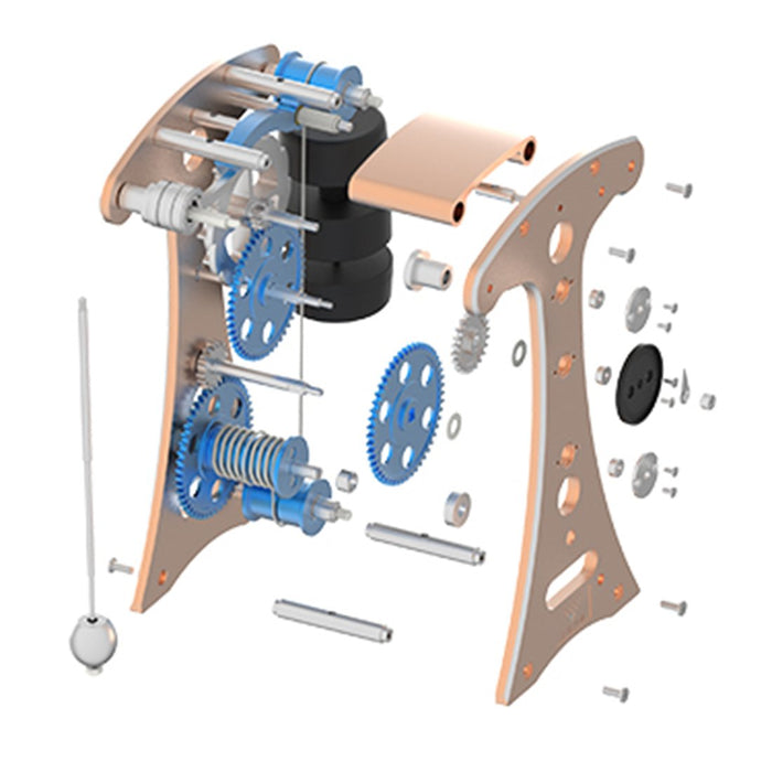 Teching 3D Metal Pendulum Clock Timekeeping Assembly Model Toy for Adult