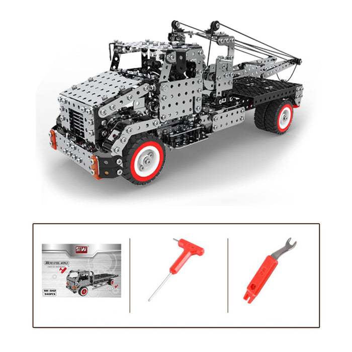 1094Pcs 3D Metal Puzzle Assembly Crane Truck Construction Vehicles for Adults