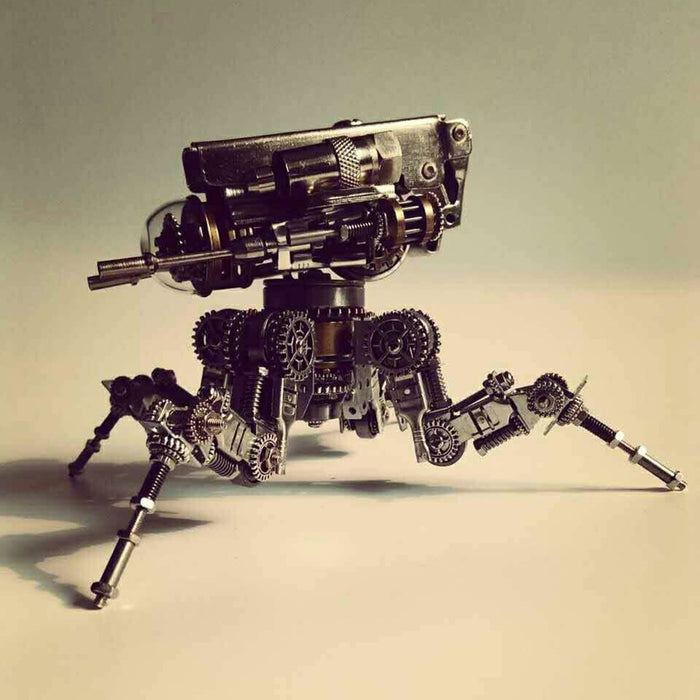DIY Assembly Metal Knight Mecha Puzzle Toy Model